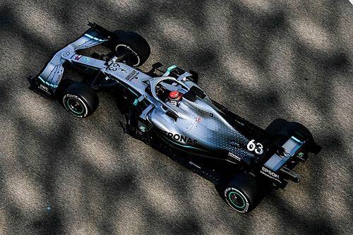 Russell lidera y Leclerc choca en el final del test en Abu Dhabi