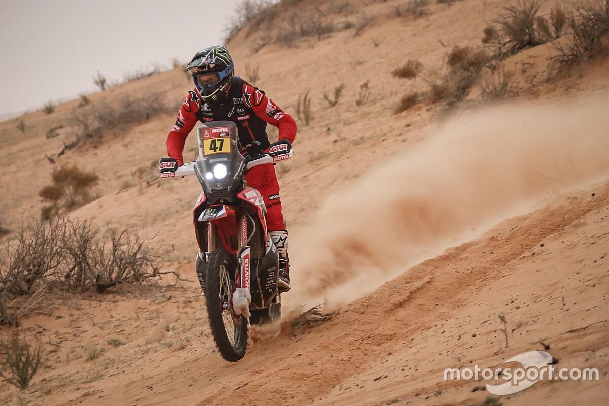 Dakar, Moto, Tappa 9: Price va KO e le Honda scappano