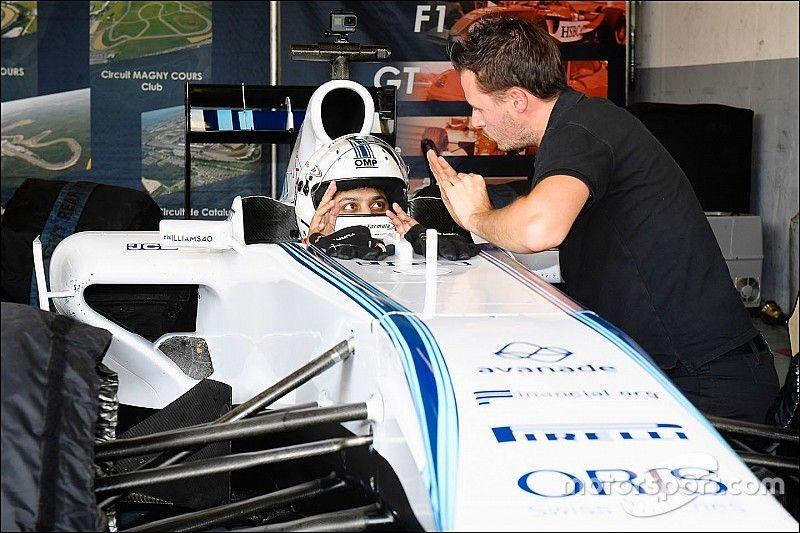Smartphone-gamers maken indruk tijdens tweedaagse Williams F1-test