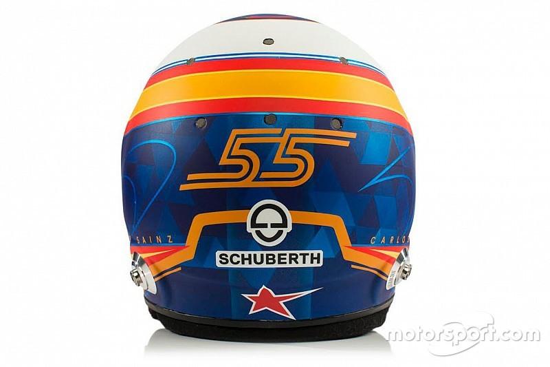 Así es el casco de Carlos Sainz para la F1 2019