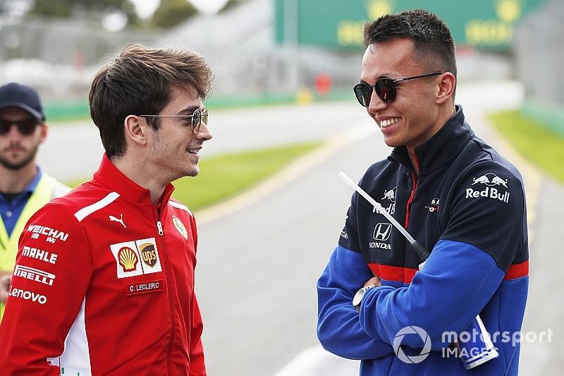 """Albon: """"Je wint maximaal een paar honderdsten van Leclerc"""""""