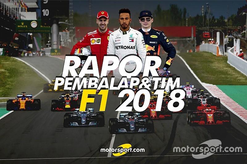 Rapor pembalap dan tim F1 2018