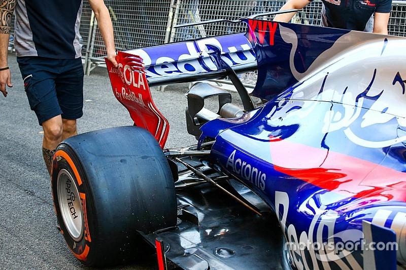 Toro Rosso: la T-wing della STR12 ha la forma di un'ala di gabbiano