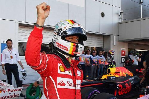 """Vettel jubelt: """"Geweldige dag voor het team"""""""