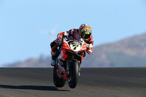 Les deux Ducati sur le podium, un résultat qui était loin d'être acquis