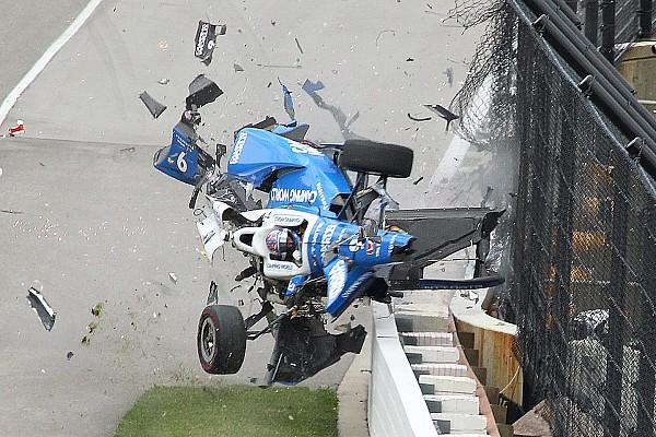 إندي كار بالصور: الحادث المروّع الذي تعرّض له سكوت ديكسون في سباق إندي 500