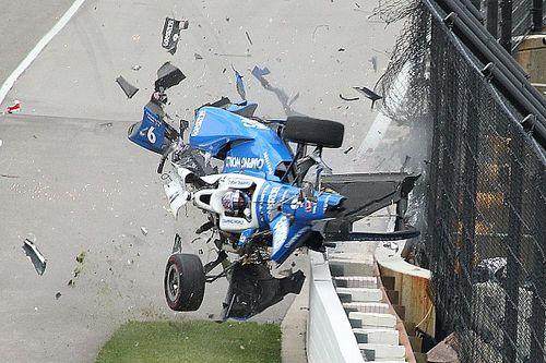 Photos - L'incroyable crash de Scott Dixon à l'Indy 500