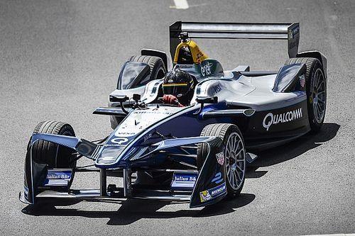 Patrick Carpentier enjoys short outing in Formula E car