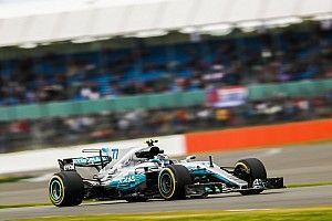 【F1】イギリスFP2:ボッタス首位も、ハミルトンはアタック完遂せず