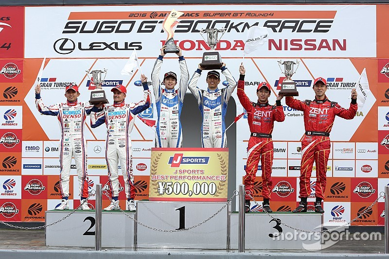 スーパーGT第4戦SUGO決勝【GT500】タイヤ無交換の英断。24号車が大逆転勝利