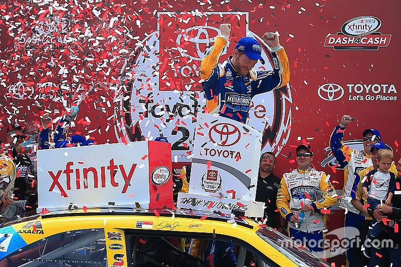 Dale Earnhardt Jr. takes Xfinity win after chaotic sprint to the finish