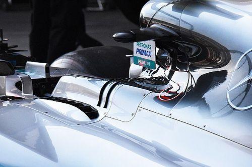 Технический брифинг: вентиляционные отверстия Mercedes W08