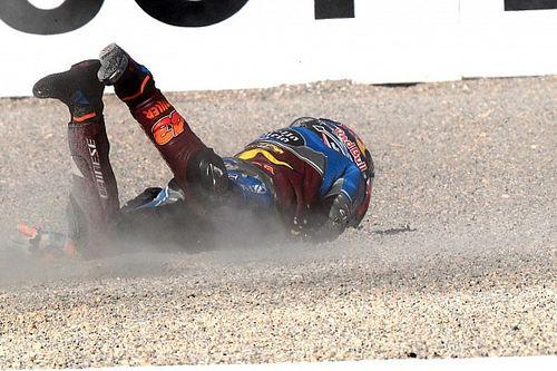 GALERI: Aksi pembalap MotoGP Valencia pada Jumat