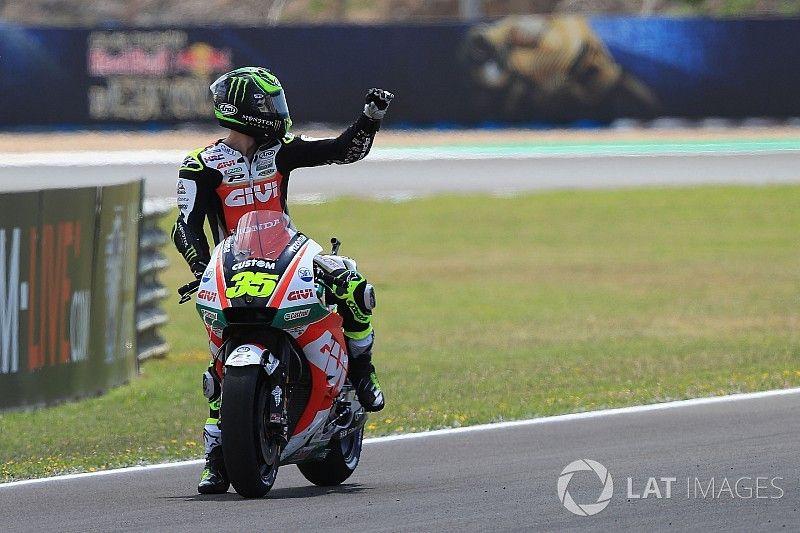 Crutchlow lidera y Márquez se estrella para cerrar el arranque en Jerez