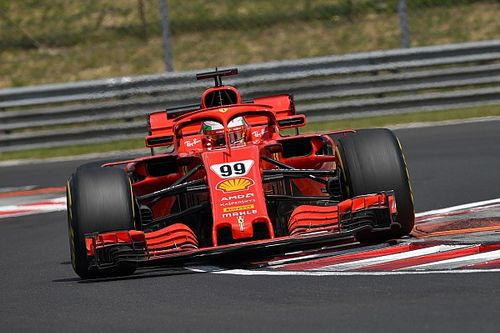 Giovinazzi beats Vettel's lap record to top first test day
