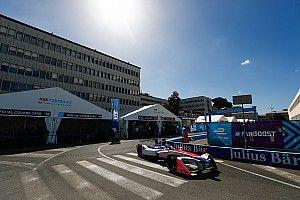 Rome ePrix: Rosenqvist tops practice, Lynn crashes twice