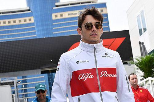 Formula 1 başlangıçta Leclerc'in gözünü korkutmuş