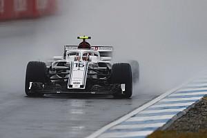 German GP: Leclerc leads Sauber 1-2 in rain-hit FP3