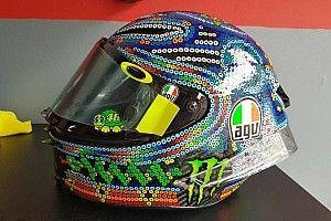 Rossi se inspira en el arte Huichol para su nuevo casco de pretemporada