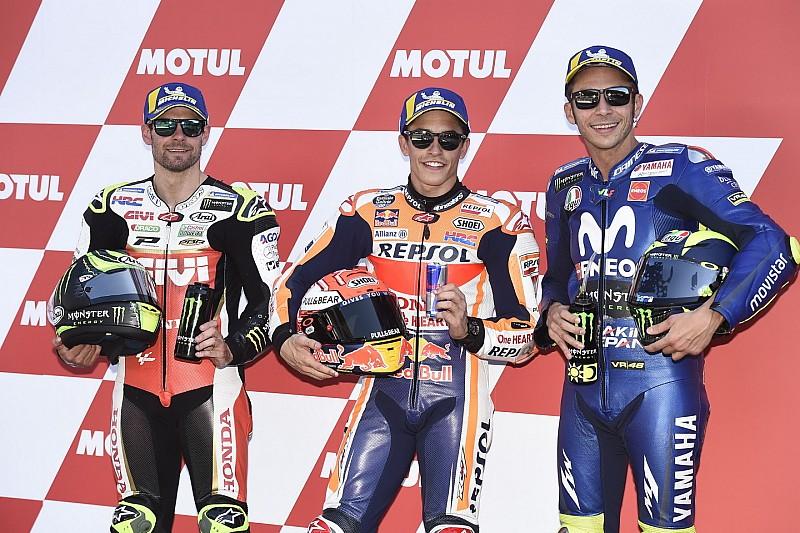 De startopstelling voor de MotoGP Dutch TT van Assen