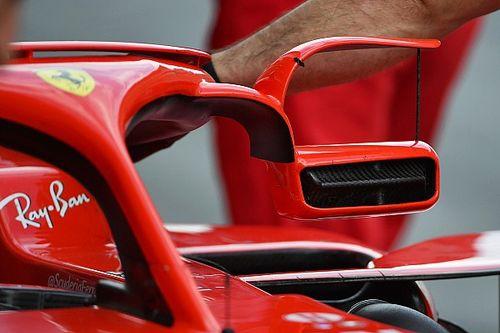 Ferrari'nin aynaları odak noktası oldu
