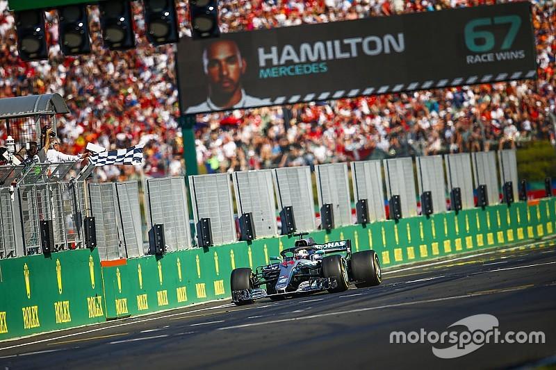As imagens da vitória fácil de Hamilton na Hungria