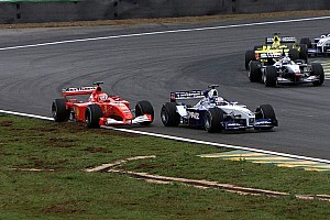 C'était un 1er avril: Montoya surprend Schumacher