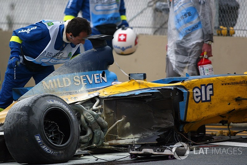 GALERÍA: el accidente de Alonso en Interlagos que lo envió al hospital