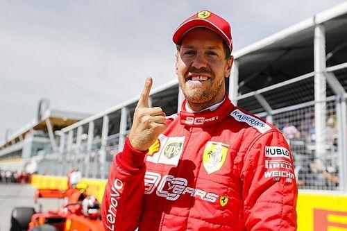 Vettel extravasa felicidade com pole e destaca trabalho duro da Ferrari