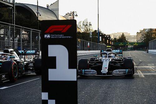 Die Startaufstellung zum Formel-1-Rennen in Baku 2019