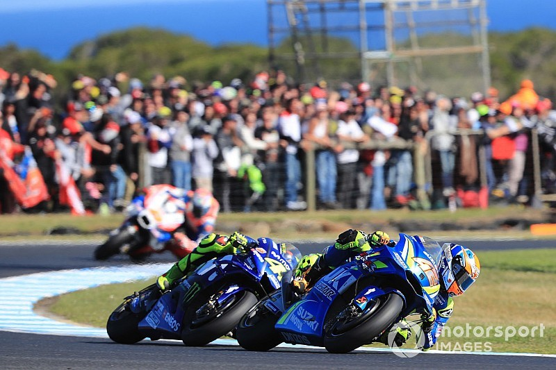 "Rins admits race was ""over"" after Vinales hit"