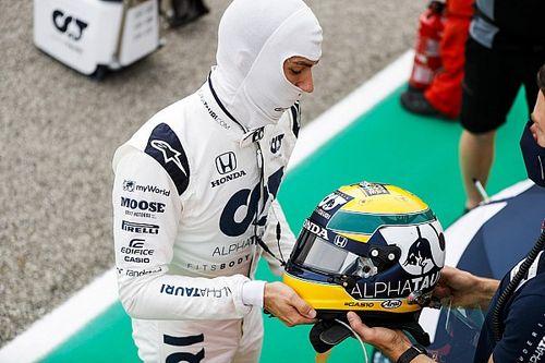 Gasly subasta su casco homenaje a Senna para ayudar a la Fundación