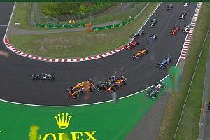 F1: Bottas faz 'strike' na largada na Hungria e prejudica dupla da Red Bull