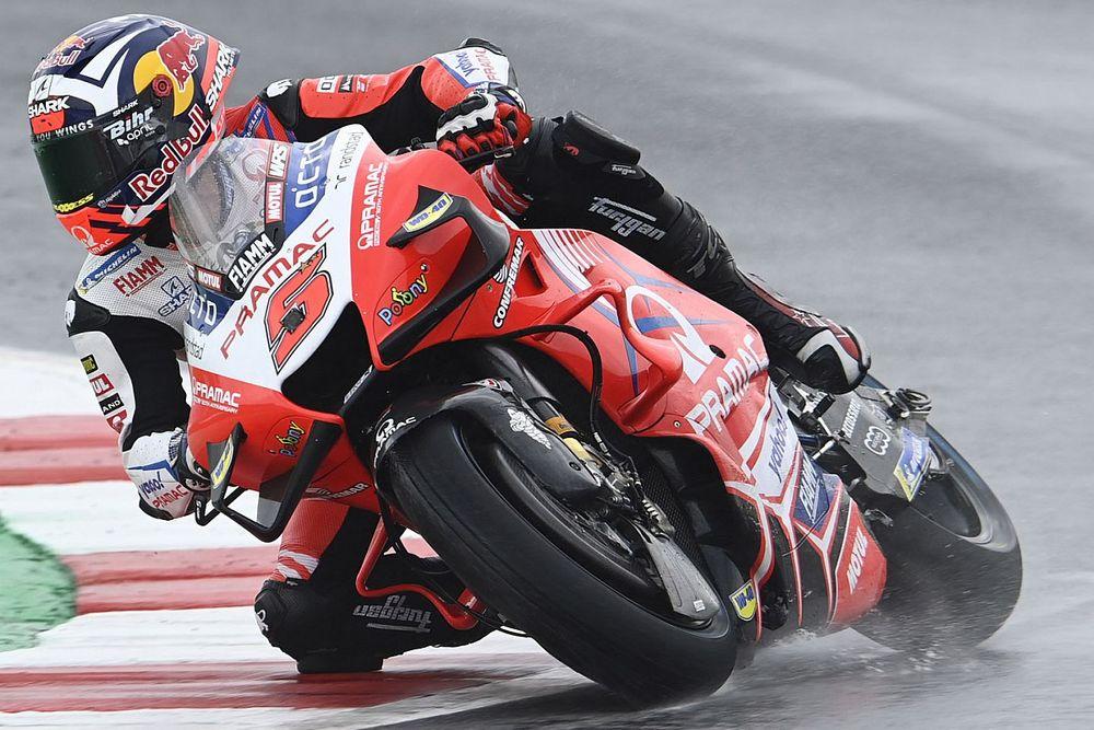 MotoGP, Misano, Libere 2: Zarco nel dominio Ducati sul bagnato