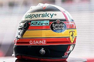 Fotos: Carlos Sainz, con un diseño especial de casco en Monza