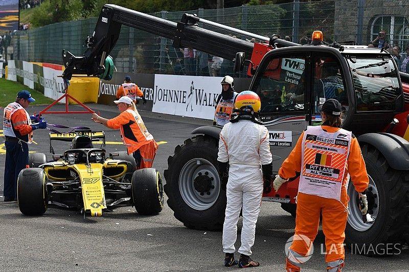 Hulkenberg, sancionado, explica su accidente con Alonso en Spa
