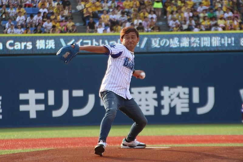 道上龍、横浜スタジアムで始球式を行う!「貴重な経験ができた」