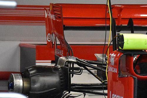 Ferrari: ecco la nuova paratia laterale dell'alettone posteriore della SF71H