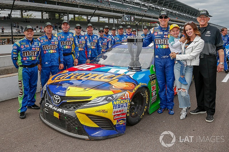 "Kyle Busch earns regular season title despite ""ugly day"" at Indy"