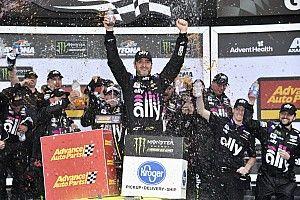 Jimmie Johnson wrecks then wins rain-shortened Daytona Clash
