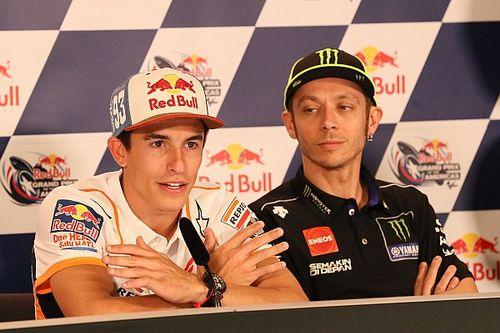 Márquez y Rossi creen que el motor Triumph de Moto2 facilita el salto a MotoGP