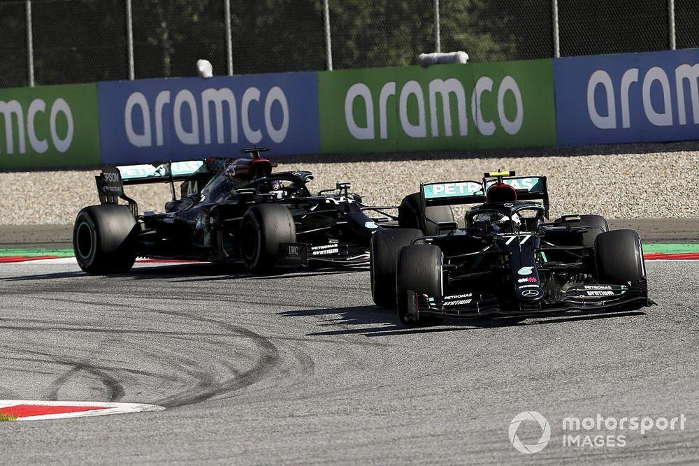 Mercedes nie avoir gelé les positions entre Bottas et Hamilton