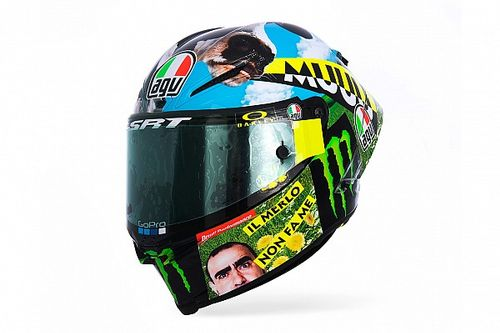 GALERÍA: Así es el casco especial de Valentino Rossi para Mugello