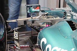 Aston Martin: ci sono due deviatori di flusso sull'ala centrale