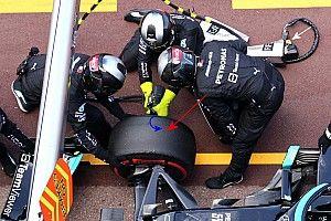 VIDEO: Mercedes por fin retiró la tuerca del coche de Bottas