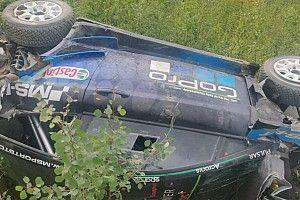Las imágenes del fuerte accidente que deja a Paddon fuera del Rally de Finlandia