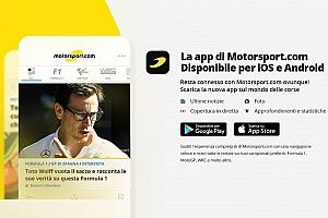 Motorsport.com lancia la nuova app per telefono