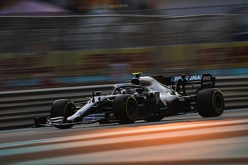 Bottas lidera pero choca con Grosjean en Abu Dhabi