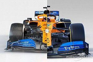 Comparación: el McLaren MCL35 de 2020 y el MCL34 de 2019