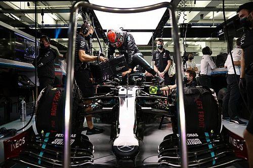 Mercedes hizo ligeros cambios en el coche para Russell